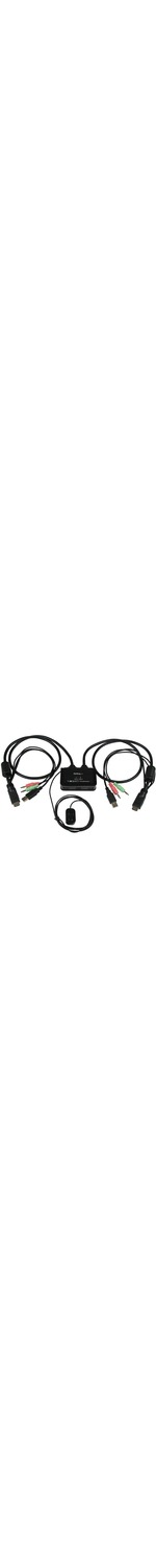 StarTech.com 2 Port USB HDMI Cable KVM Switch with Audio and Remote Switch - USB Powered - 2 Computers - 1 Local Users - 1920 x 1200 - 3 x USB - 2 x HDMI