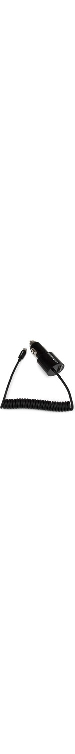 StarTech.com Black Dual Port Car Charger with Micro USB Cable and USB 2.0 Port