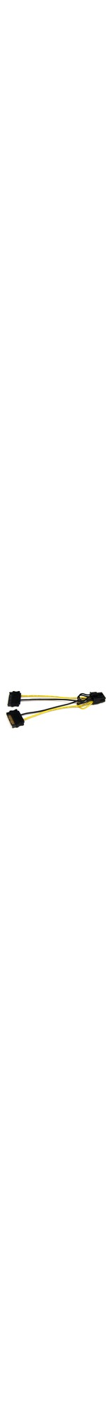 StarTech.com 6in SATA Power to 8 Pin PCI Express Video Card Power Cable Adapter - 6 - SATA - PCI-E