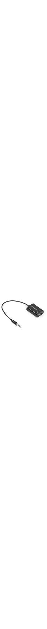 StarTech.com Black Slim Mini Jack Headphone Splitter Cable Adapter