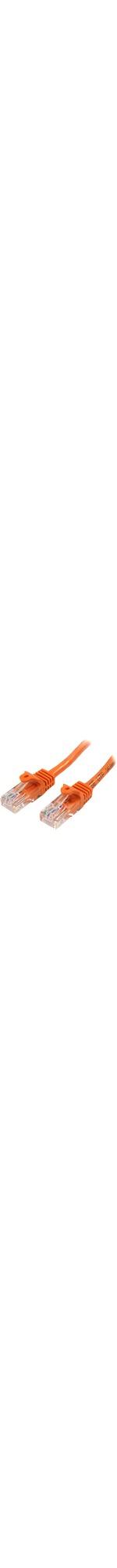 StarTech.com 1m Orange Cat5e Snagless RJ45 UTP Patch Cable - 1m Patch Cord - 1 x RJ-45 Male Network