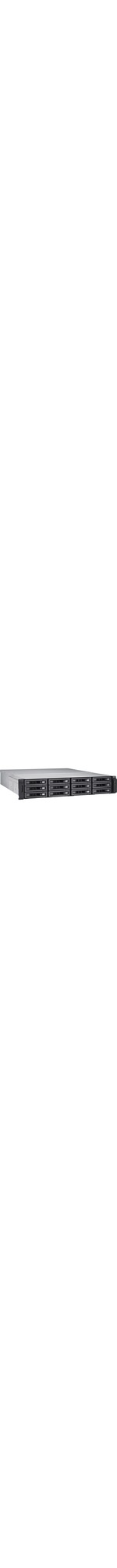 QNAP Turbo NAS TS-EC1280U-E3-4GE-R2 12 x Total Bays SAN/NAS Server - 2U - Rack-mountable - Intel Xeon Quad-core 4 Core - 4 GB RAM DDR3 SDRAM - Serial ATA/600 - RAI