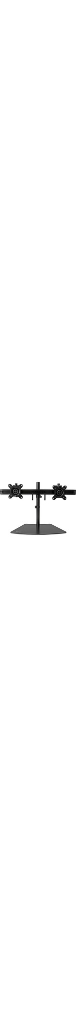 StarTech.com Dual Monitor Stand - Monitor Mount for Two Displays - Up to 61 cm 24And#34; Screen Support - 8.16 kg Load Capacity - Plastic, Steel - Black