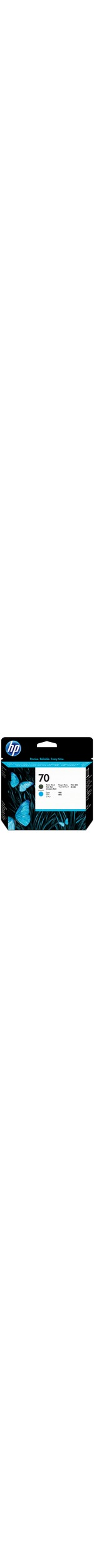 HP 70 Matte Black and Cyan Printhead - Matte Black, Cyan - Inkjet