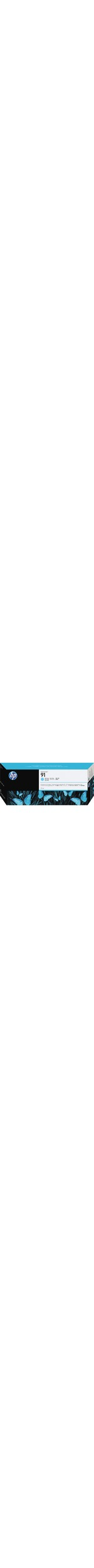 HP No. 91 Ink Cartridge - Light Cyan - C9470A