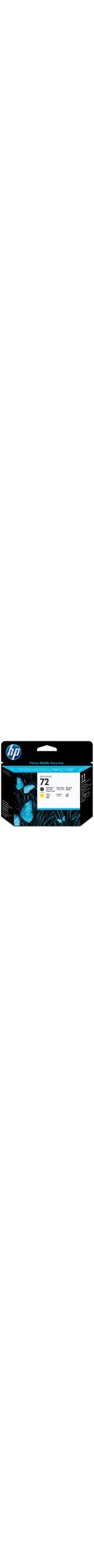 HP 72 Original Printhead - Matte Black, Yellow - Inkjet - 1 Each