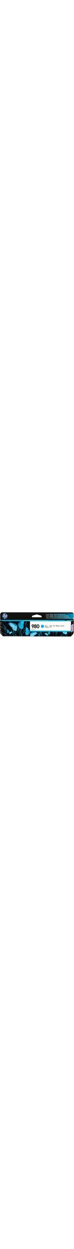 HP 980 Ink Cartridge - Cyan