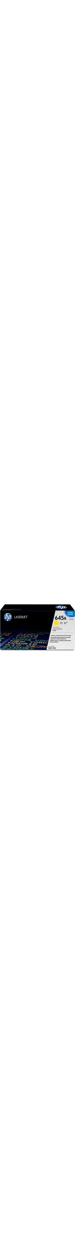 HP 645A Toner Cartridge - Yellow - Laser - 12000 Page - 1 Pack