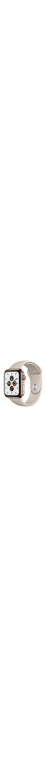 Apple Watch Series 5 Smart Watch - Wrist Wearable - Gold Case - Stone Band - Stainless Steel Case - Cellular Phone Capability - LTE, UMTS