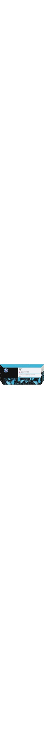 HP No. 81 Ink Cartridge - Light Magenta
