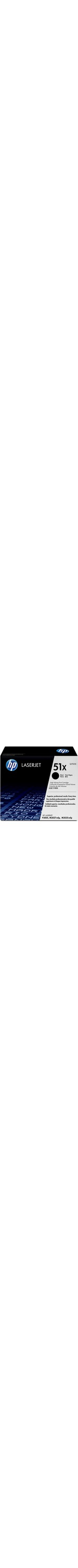 HP 51X Toner Cartridge - Black - Laser - 13000 Page - 1 Each
