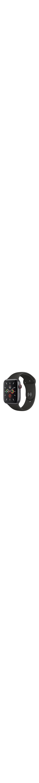 Apple Watch Series 5 Smart Watch - Wrist Wearable - Space Gray Aluminum Case - Black Band - Aluminium Case - Cellular Phone Capability - LTE, UMTS