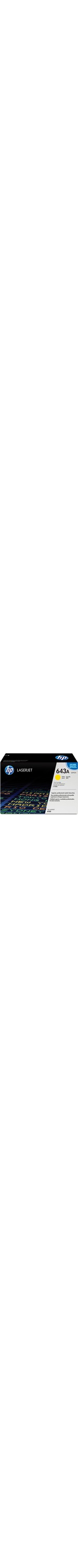 HP 643A Toner Cartridge - Yellow - Laser - 10000 Page - 1 Each