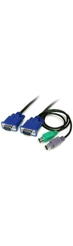 Startech Ultra Thin VGA plus PS2 KVM Cable - 7.5m
