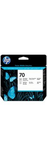 HP 70 Photo Black and Light Gray Printhead - Photo Black, Light Gray - Inkjet
