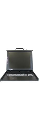 StarTech.com 1U 17 Rackmount LCD Console 17 Active Matrix TFT LCD - 1 x HD-15 Video