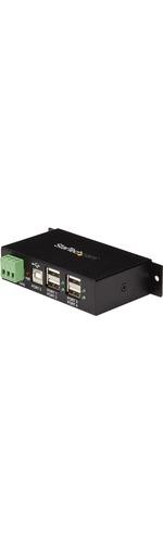 StarTech.com Mountable 4 Port Rugged Industrial USB Hub - 4 x 4-pin Type A Female USB 2.0 USB
