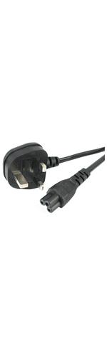 StarTech.com 6 ft Laptop Power Cord - 3 Slot for UK - 230 V AC - Black