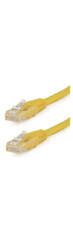 StarTech.com 7 ft Yellow Molded Cat6 UTP Patch Cable - ETL Verified - Category 6 - 7 ft - 1 x RJ-45 Male