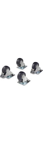 StarTech.com Caster Kit for Open Frame Rack - 4POSTRACK - 50 kg per Caster