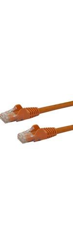StarTech.com 25 ft Orange Snagless Cat6 UTP Patch Cable - Category 6 - 25 ft - 1 x RJ-45 Male Network - 1 x RJ-45 Male Network - Orange