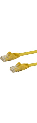 StarTech.com 25 ft Yellow Snagless Cat6 UTP Patch Cable - Category 6 - 25 ft - 1 x RJ-45 Male Network - 1 x RJ-45 Male Network - Yellow
