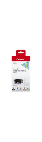 Canon CLI-8 Ink Cartridge - Photo Cyan, Photo Magenta, Black, Grey
