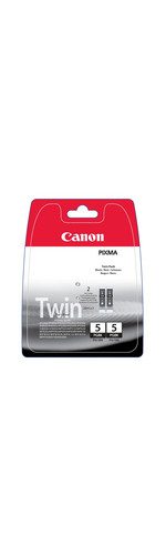 Canon Black PGI-5BK Ink Cartridge Twin Pack