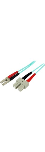 StarTech.com 2m 10 Gb Aqua Multimode 50/125 Duplex LSZH Fiber Patch Cable LC - SC - Fiber Optic for Network Device - 2m - 2 x LC Male Network - 2 x SC Male Network -