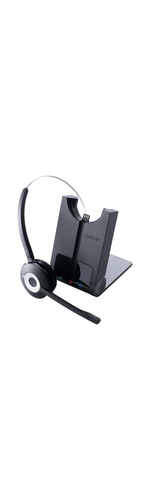 Jabra PRO 930 Wireless Over-the-head Mono Headset - Open - 9906 cm - DECT - 32 Ohm - 150 Hz to 7 kHz - Noise Cancelling, Electret Microphone