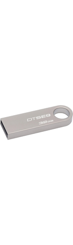 Kingston DataTraveler SE9 32 GB USB 2.0 Flash Drive - Silver - 1 Pack