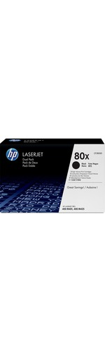 HP 80X Toner Cartridge - Black - Laser - High Yield - 6900 Page - 2 Pack