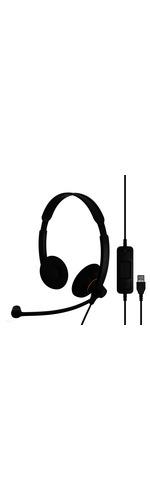 Sennheiser SC 60 USB ML Wired Stereo Headset - Over-the-head - Supra-aural - Black, Orange