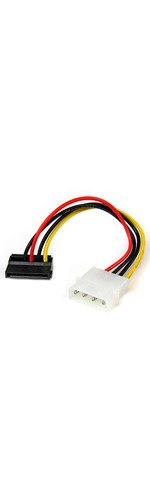 StarTech.com 6in 4 Pin Molex to Left Angle SATA Power Cable Adapter - 6And#34; - LP4 - SATA