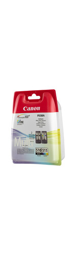 Canon PG-510/CL-511 Ink Cartridge - Black, Cyan, Magenta, Yellow