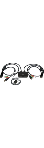 StarTech.com 2 Port USB DisplayPort Cable KVM Switch w/ Audio and Remote Switch