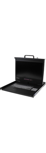 StarTech.com 1U 17And#34; HD 1080p Rackmount LCD Console with Front USB Hub - 1 Computers - 43.2 cm 17And#34; LCD - 1920 x 1080 - 2 x PS/2 Port - 4 x USB - 1 x DVI - 1 x VGA