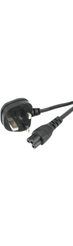 StarTech.com 1m Laptop Power Cord - 3 Slot for UK - BS-1363 to C5 Clover Leaf Power Cable Lead for Notebook