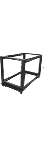 StarTech.com 12U Adjustable Depth Open Frame 4 Post Server Rack w/ Casters / Levelers and Cable Management Hooks - 544.31 kg x Static/Stationary Weight Capacity
