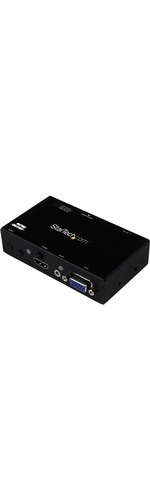 StarTech.com 2x1 HDMI plus VGA to HDMI Converter Switch w/ Automatic and Priority Switching - 1080p