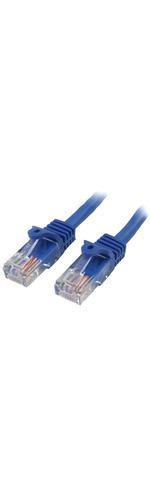 StarTech.com 1 m Blue Cat5e Snagless RJ45 UTP Patch Cable - 1m Patch Cord - 1 x RJ-45 Male Network