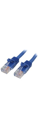 StarTech.com 3 m Blue Cat5e Snagless RJ45 UTP Patch Cable - 3m Patch Cord - 1 x RJ-45 Male Network