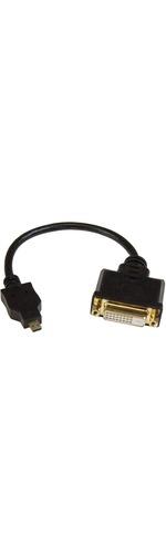 StarTech.com Micro HDMI to DVI-D Adapter M/F - 8in - 1 x Micro HDMI Male Digital Audio/Video - Black
