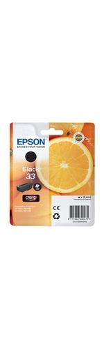 Epson Claria 33 Ink Cartridge - Black - Inkjet - 1 / Blister Pack - OEM