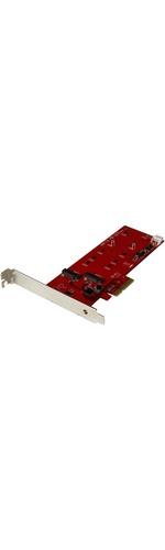 StarTech.com 2x M.2 SSD Controller Card - PCIe - PCI Express M.2 SATA III Controller - NGFF Card Adapter - 2 M.2Serial ATA - PCI Express 2.0 x2