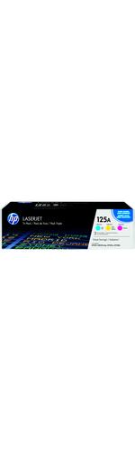 HP 125A Toner Cartridge - Cyan, Yellow, Magenta - Laser - 1400 Page - 3 Pack