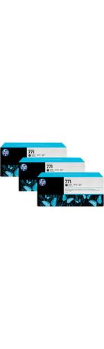 HP 771C Matte Black Ink Cartridge - x3 Pack