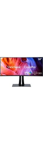 Viewsonic VP3881 38And#34; UW-QHDplus Curved Screen WLED LCD Monitor - 21:9 - Black