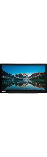 AOC I1601FWUX 39.6 cm 15.6And#34; Full HD LED LCD Monitor - 16:9 - Glossy Piano Black, Silver - 1920 x 1080 - 262,000 Colors - 220 cd/mAndamp;#178; - 5 ms - USB Type-C
