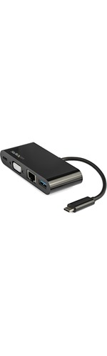 StarTech.com USB C VGA Multiport Adapter - Power Delivery Charging 60W - USB 3.0 - GbE - USB C Adapter for Mac, Windows, Chrome OS - Create a workstation by connec